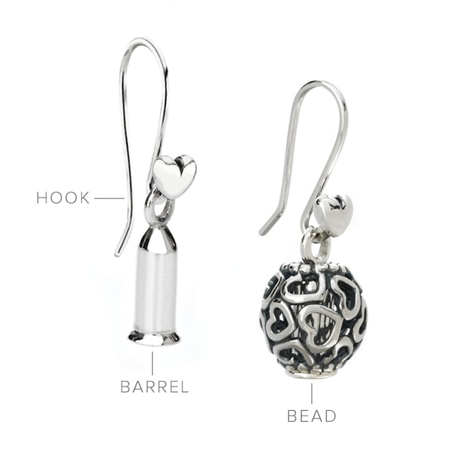 Compose Hooks And Barrels Openwork Pandora Charms Can Transformed Into Earrings